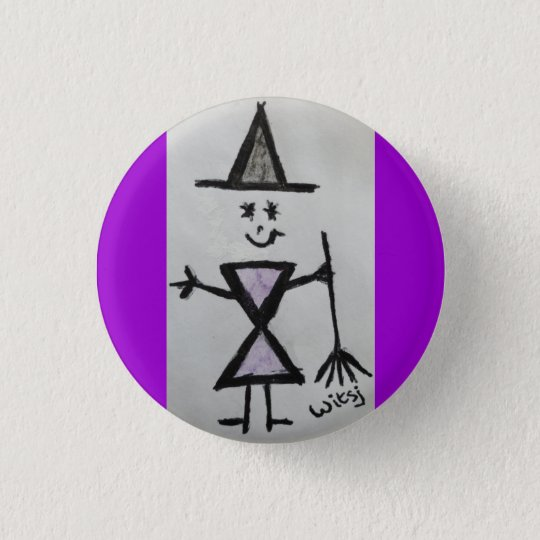 wicca kind ronde button 3,2 cm