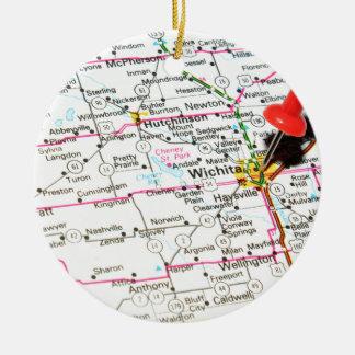 Wichita, Kansas Rond Keramisch Ornament