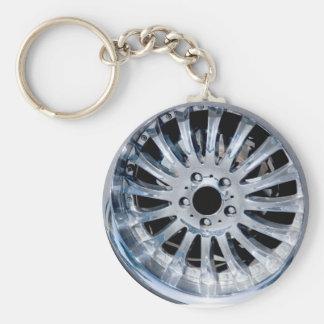 wiel keychain basic ronde button sleutelhanger