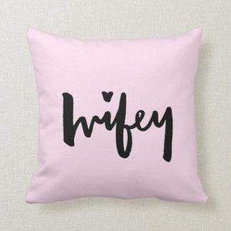 Wifey - het van letters voorzien van de Borstel Sierkussen