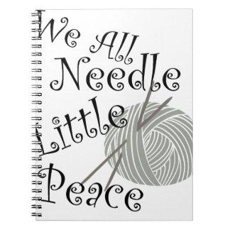 Wij Al Naald Weinig het Breien van de Vrede Art. Ringband Notitieboek