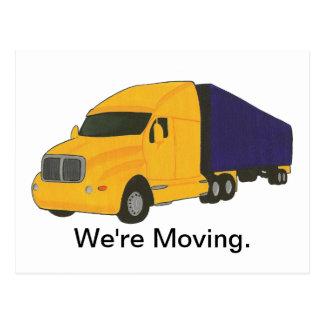Wij bewegen ons, adreswijzigings briefkaarten