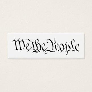 Wij de Kaart van het Profiel van Mensen Mini Visitekaartjes