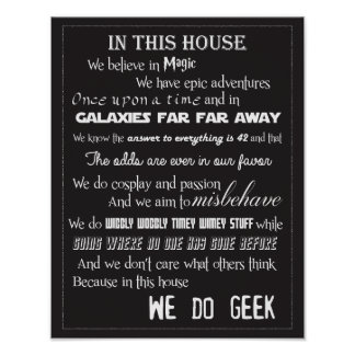 Wij doen Poster Geek - B/W