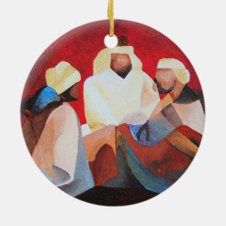 Wij Drie Koningen Rond Keramisch Ornament