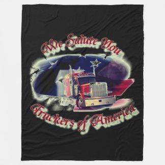 Wij groeten Vrachtwagenchauffeurs van Amerika Fleece Deken