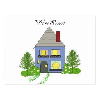 Wij hebben Comfortabel Huis bewogen Briefkaart