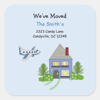 Wij hebben Huis en Vliegtuig bewogen Vierkante Stickers