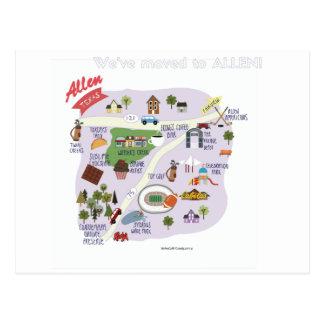 Wij hebben ons aan het Briefkaart van Allen Texas
