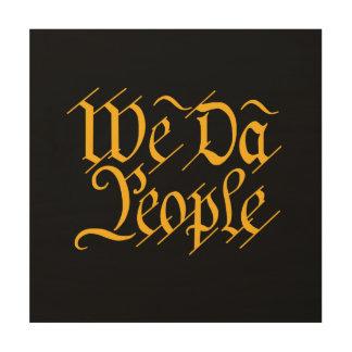 Wij het ART. van de de mensenMUUR van DA Hout Afdruk