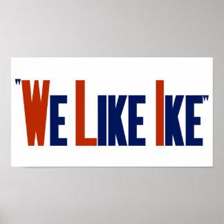 Wij houden van Ike -- Eisenhower het Poster van de