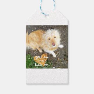 Wij houden van u Hond Sarah Cadeaulabel