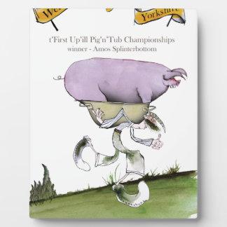 wij houden Yorkshire up'ill varkens van race Fotoplaat