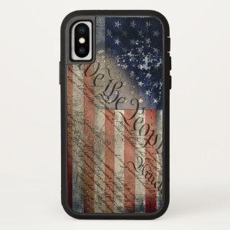 Wij iPhone X van de Vlag van Mensen Amerikaanse iPhone X Hoesje