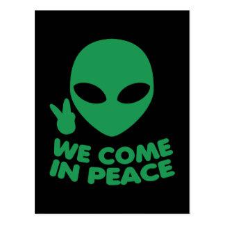 Wij komen in de Vreemdeling van de Vrede Briefkaart