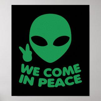 Wij komen in de Vreemdeling van de Vrede Poster