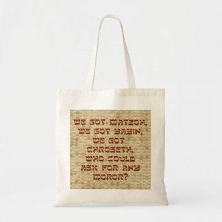 Wij kregen Matzoh… Canvas tas