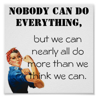 Wij kunnen doen meer dan wij denken wij kunnen! poster