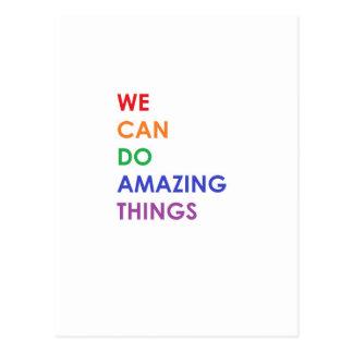 Wij kunnen Verbazende Dingen doen Briefkaart