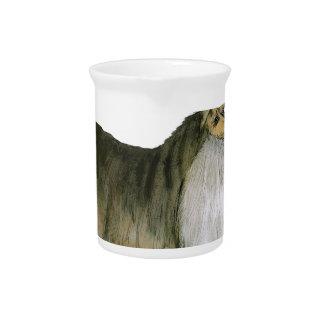 wij luv Shetland herdershonden van Tony Fernandes Drink Pitcher