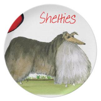 wij luv Shetland herdershonden van Tony Fernandes Melamine+bord