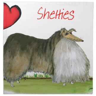 wij luv Shetland herdershonden van Tony Fernandes Servet