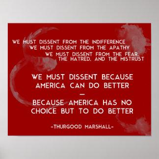 Wij moeten van mening verschillen… Thurgood stelt Poster