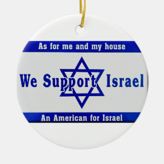 Wij steunen Israël Rond Keramisch Ornament
