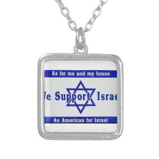 Wij steunen Israël Zilver Vergulden Ketting