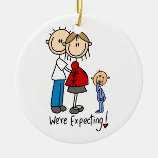 Wij verwachten Paar met het Ornament van de Jongen