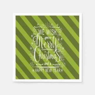 Wij wensen u een Vrolijk Kerstmis gepersonaliseerd Papieren Servet