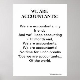 Wij zijn Accountants! Het motivatie Lied van de Ac Poster