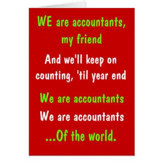 Wij zijn de Grappige Kerstkaart van Accountants Kaart