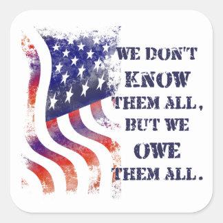 Wij zijn hen de Stickers van de Dag van Veteranen