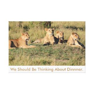 Wij zouden over Diner moeten denken Canvas Print