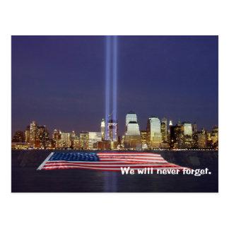 Wij zullen nooit Hulde 9-11 vergeten Briefkaart