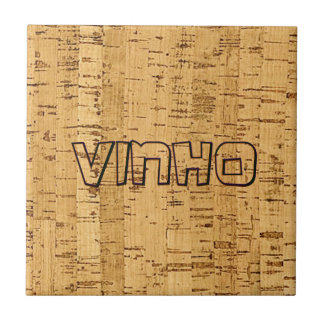 wijn digitale gesimuleerde cork onderzettertegel tegeltje