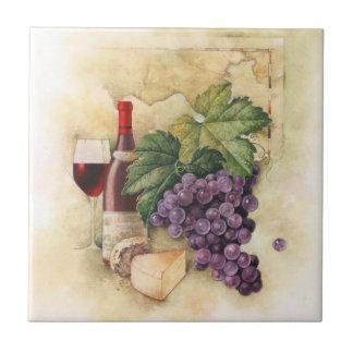 Wijn en Kaas Tegeltje