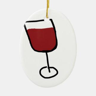 Wijn Keramisch Ovaal Ornament