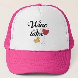 Wijn over het later trucker pet