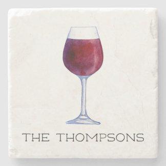 Wijn van de waterverf personaliseerde de stenen onderzetter