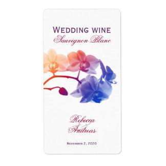 Wijn van het huwelijk personaliseerde jeugdig etiket