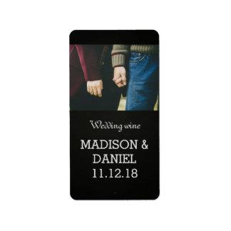 Wijn van het Huwelijk van de Foto van het bord de Etiket