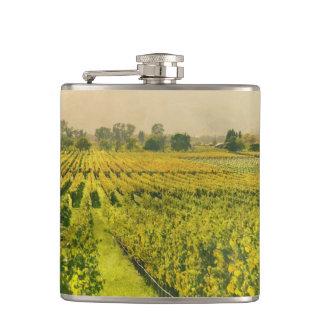 Wijngaard in de Herfst in Napa Vallei Californië Heupfles