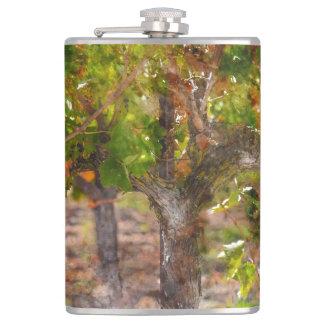 Wijngaard in Vallei Napa tijdens Herfst Heupfles