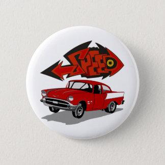 Wijnoogst 1957 Chevy met de Snelheid van de Tekst Ronde Button 5,7 Cm