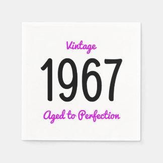 Wijnoogst 1967 Verouderd aan Perfectie 50 de Papieren Servetten
