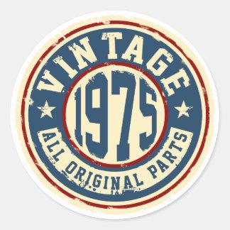 Wijnoogst 1975 Alle Originele Delen Ronde Sticker