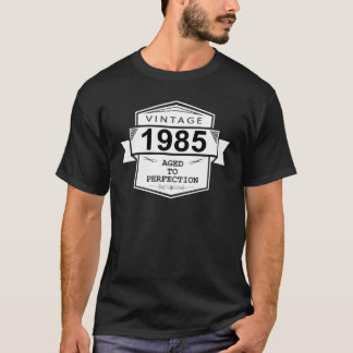 Wijnoogst 1985 Verouderd aan Perfectie. De T Shirt