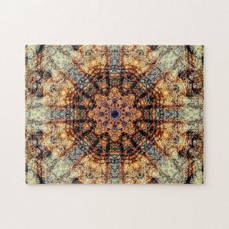 Wijnoogst | Abstracte Kunst | Mandala Puzzel